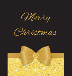 glamorous christmas greetings with gold glitters vector image vector image