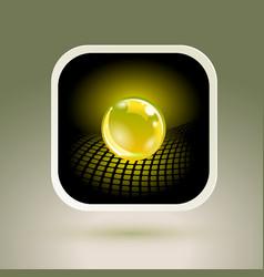 sphere app icon conceptual hi-tech design vector image