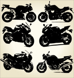 super bikes silhouettes vector image vector image