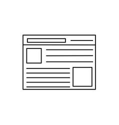 web page icon vector image vector image