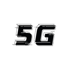 5g logo design template vector image