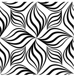 Abstact seamless pattern floral line swirl vector