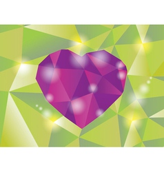 Abstract diamond heart vector image