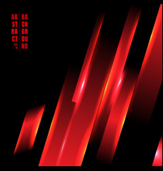 abstract red color light oblique line technology vector image