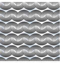 abstract retro rounded geometric patterns composed vector image