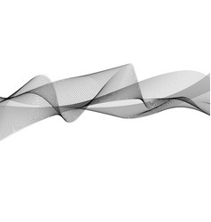 Abstract wave element for design digital frequency vector