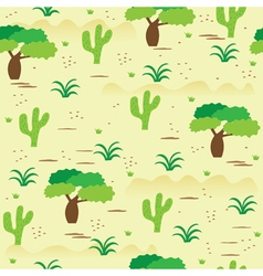 African savanna landscape seamless pattern vector