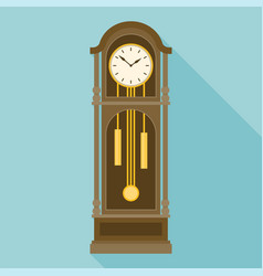 Antique grandfather pendulum clock vector