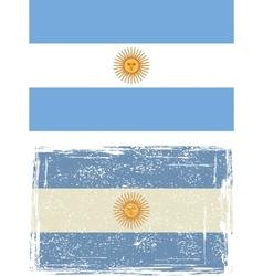 Argentine grunge flag vector image
