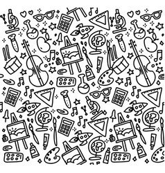 Back to school seamless pattern good vector