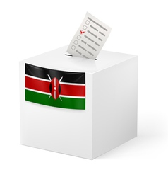 Ballot box with voting paper Kenya vector