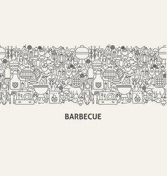 Barbecue banner concept vector