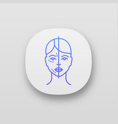 Before and after neurotoxin injection app icon vector