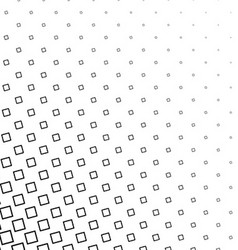 Black and white angular square pattern background vector image