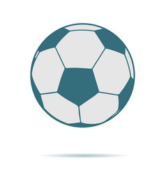 blue soccer ball icon isolated on background mode vector image