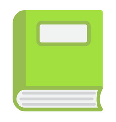 book flat icon education and school vector image