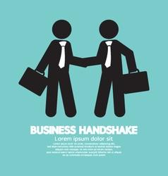 Business Handshake Symbol vector image