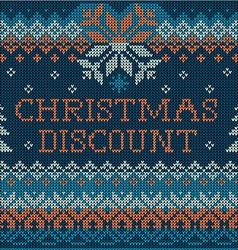 Christmas discount scandinavian seamless vector