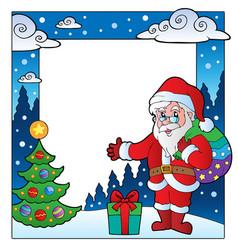 christmas theme frame 2 vector image