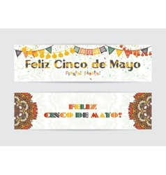 Cinco de mayo fifth may day banners set vector