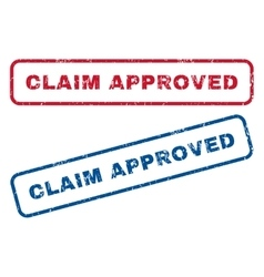 Claim Approved Rubber Stamps vector image