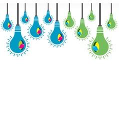 colorful bird bulb nest vector image