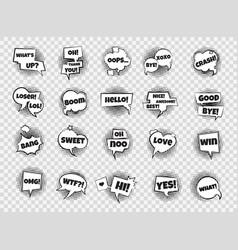comic speech bubbles pop art dialog frames vector image