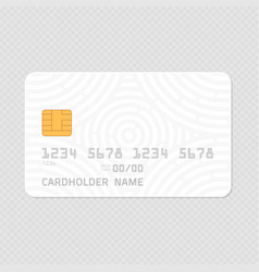 Credit card realistic mockup vector
