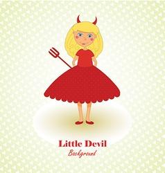 Cute Little Devil Background vector