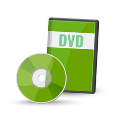 Dvd digital video disc case for storage versatile vector