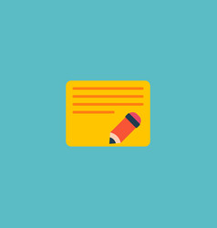 Edit task icon flat element vector