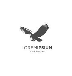 falcon silhouette logo vector image