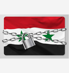 flag syrian arab republic vector image