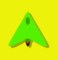 Flat icon design collection stealth attack plane vector