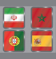 football championship flags group b vector image
