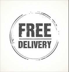 free delivery grunge stamp vector image