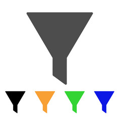 Funnel flat icon vector