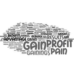 Gainings word cloud concept vector