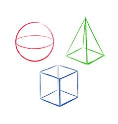 geometric shapes set 5 vector image