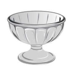 Glass vase for desserts or sweets vector