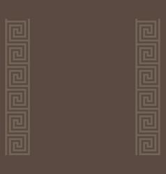 gray greek key meander border background vector image