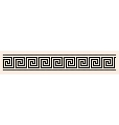 Greek style seamless ornament Black pattern on a vector image