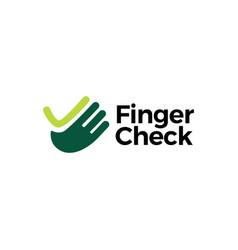 hand finger check logo icon vector image
