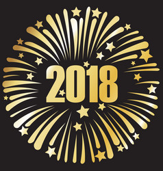 Happy new year 2018 golden sign vector