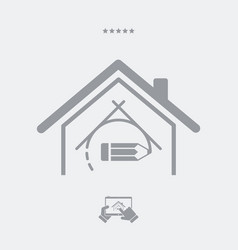 house design - web icon vector image