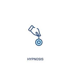Hypnosis concept 2 colored icon simple line vector