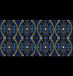 Indigo ornate oriental ornament seamless vector