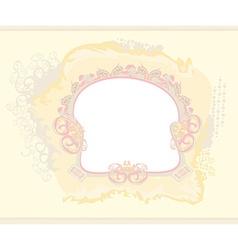 Invitation frame card vector