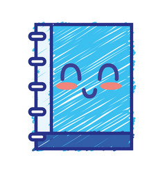 Kawaii cute happy notebook tool vector