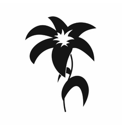 Lily icon in simple style vector image